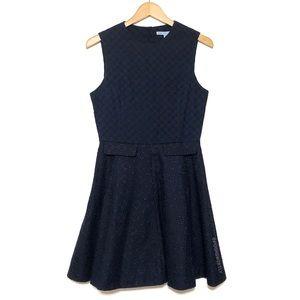 Draper James Navy Eyelet Dress